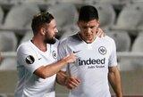 """Tvirtą pergalę Vokietijoje iškovoję """"Eintracht"""" pakilo į pirmąjį ketvertą"""