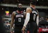 """R.Westbrooko debiutas pažymėtas """"Rockets"""" nesėkme"""