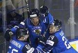 Dar vienas įspūdingas išsigelbėjimas: rezultatą priešpaskutinę trečiojo kėlinio minutę išlyginę suomiai po pratęsimo nukarūnavo švedus