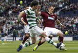 """""""Hearts"""" įveikė """"Celtic"""" ir pateko į Škotijos taurės finalą"""