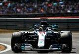 """L.Hamiltonas paskutiniu bandymu Silverstone atėmė """"pole"""" poziciją iš S.Vettelio"""