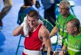 Su ironiška šypsena teisėjų sprendimą priėmęs E.Stanionis baigė pasirodymą olimpiadoje