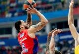 """Prieš mačą su """"Žalgiriu"""" – konfliktas tarp CSKA trenerio ir M.Jameso"""
