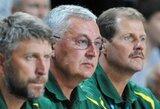 """J.Kazlauskas: """"Buvo daug neteisingų sprendimų, bet gerai, kad noras liejosi per kraštus"""" (belgų vyr. trenerio komentaras)"""
