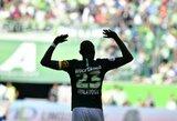 """""""Wolfsburg"""" ir """"Schalke"""" rungtynėse – raudona kortelė ir pergalingas šeimininkų įvartis pridėto laiko metu"""