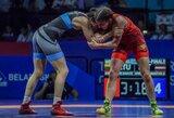Europos žaidynėse D.Domikaitytė dėl bronzos kovos su Bulgarijos imtynininke