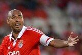 """""""Benfica"""" kapitonas už teisėjo pastūmimą gavo dviejų mėnesių diskvalifikaciją"""