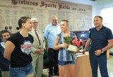 """Pamatykite: R.Namajunas susitiko su Lietuvos bušido federacija ir kovotojais bei pakvietė visus į """"Žalgirio"""" arenoje vyksiantį turnyrą"""
