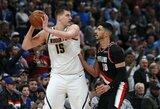 """N.Jokičius: """"Ar dabar žaidžiu geriausią krepšinį karjeroje? Tikriausiai"""""""