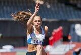 Trišuolininkė A.Grikšaitė Švedijos čempionate užėmė trečią vietą, D.Stahlis diską metė už 68 m ribos