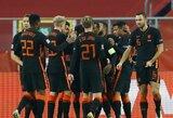 Tautų lyga: Olandijos rinktinė 84-ąją minutę išplėšė pergalę prieš lenkus