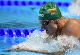 Fantastiškas startas Europos plaukimo čempionate: G.Titenis pagerino Lietuvos rekordą ir su geriausiu rezultatu pateko į 50 m krūtine pusfinalį