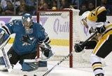 """S.Crosby dviem įvarčiais prisidėjo prie triuškinančios """"Penguins"""" pergalės prieš """"Sharks"""""""