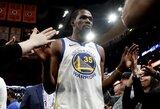 """""""Warriors"""" padėkojo K.Durantui ir pagerbs NBA žvaigždės marškinėlių numerį"""