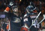 """Prasta rungtynių pradžia nesutrukdė """"Ducks"""" iškovoti pirmos pergalės Vakarų konferencijos finale"""