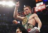 """S.Alvarezas: """"Šokiruosiu bokso pasaulį ir nugalėsiu F.Mayweatherį"""""""