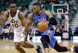"""""""Thunder"""" žvaigždžių šou: R.Westbrooko sąskaitoje – trigubas dublis, K.Durantas – ir vėl rezultatyviausias"""