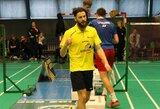 Varžovus triuškinęs K.Navickas triumfavo Lietuvos badmintono čempionate