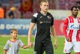 LFF kreipėsi į UEFA drausmės komitetą dėl V.Slavicko traumos