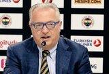 Š.Jasikevičiaus mėgstamas specialistas lieka Stambule