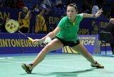 A.Stapušaitytės pergalė Lietuvos moterų badmintono rinktinės neišgelbėjo