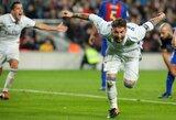 """S.Ramoso įvartis išgelbėjo """"Real"""" klubą nuo pralaimėjimo Barselonoje"""