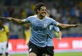 """E.Cavani įsitikinęs, jog Urugvajus gali """"Copa America"""" turnyre kovoti dėl aukščiausių tikslų"""