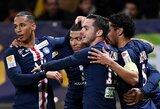 """Prancūzijos lygos taurė: PSG užtikrintai susitvarkė su """"Le Mans"""""""