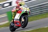 V.Rossi nerimauja dėl greito padangų dilimo