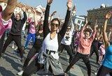 Rotušės aikštėje – daugiau nei pusės tūkstančio sporto gerbėjų treniruotė
