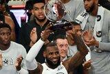 L.Jamesas nesutinka su NBA komisaru ir nenori keisti atkrintamųjų varžybų sistemos