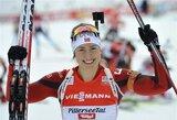 Pasaulio biatlono taurės etapas Austrijoje baigėsi S.Solemdal ir M.Fourcade'o pergalėmis