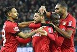 "Įvarčių fiesta baigėsi ""Bayer"" dramatiška pergale prieš ""Borussia"""