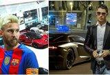 C.Ronaldo prieš L.Messi: kurio automobilių kolekcija įspūdingesnė?