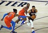 """Sugrįžo R.Westbrookas, """"Rockets"""" įsirašė trečiąją pergalę"""