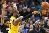 NBA dienos epizodu tapo stebuklingas L.Jameso perdavimas
