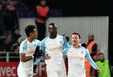 """M.Balotelli įvarčiu prisidėjo prie """"Marseille"""" pergalės"""