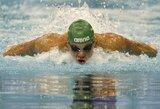 Pasaulio taurės etape Eindhovene T.Duškinas – šalia plaukimo legendos