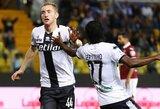 """""""Parma"""" rungtynių pabaigoje išplėšė pergalę prieš """"Torino"""" futbolininkus"""