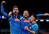 """Čempionų lyga: užtikrintą pergalę iškovojusi """"Napoli"""" ekipa pakilo į pirmąją grupės vietą"""