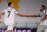 """Draugiškose rungtynėse – C.Ronaldo įvartis ir triuškinama """"Juventus"""" pergalė"""