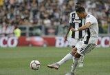 """M.Allegri nesureikšmino nerealizuoto C.Ronaldo baudinio: """"Svarbiausia, jog komanda iškovojo pergalę"""""""