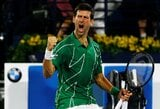 79-as titulas: N.Djokovičius turnyro Dubajuje finale įveikė S.Tsitsipą