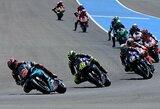 """F.Quartararo tolsta nuo persekiotojų """"MotoGP"""" čempionate, V.Rossi po ilgos pertraukos iškovojo vietą ant podiumo"""