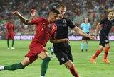 Portugalijos ir Kroatijos draugiškoje akistatoje užfiksuotos lygiosios, M.Depay'aus dublis išplėšė Nyderlandams pergalę, o W.Sneijderis baigė karjerą