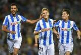 """Svajonių startą išgyvenantis """"Real Sociedad"""" – tarp Ispanijos pirmenybių lyderių"""