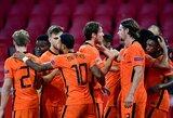 Tautų lygoje – olandų pergalė ir Italijos rinktinės lygiosios