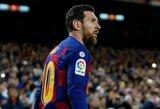 """""""Barcelona"""" prezidentas apgynė L.Messi: argentinietis iš karto sutiko susimažinti atlyginimą"""