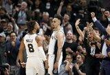 """""""Spurs"""" į pergalę vedė karjeros dvikovą sužaidęs D.White'as, pasižymėjo ir D.Motiejūnas"""