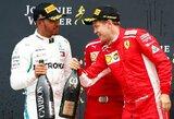 """L.Hamiltonas: """"S.Vettelis mane aplenkė dėl kai kurių """"triukų"""" savo bolide"""""""